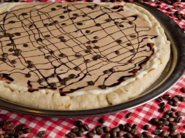 PIZZA DE MOUSSE DE CAFÉ
